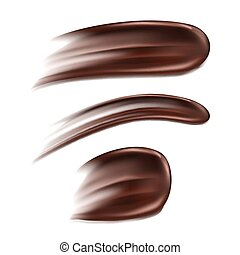 enduisage, blanc, isolé, fond, chocolat
