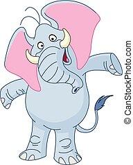 enduisage, bras, éléphant