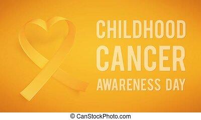 enfance, mondiale, 15e, symbole, february., cancer