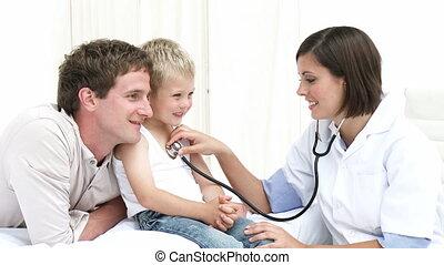 enfant, hôpital, jeune