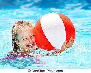 enfant, natation, pool.