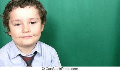 enfant, sourire, appareil photo