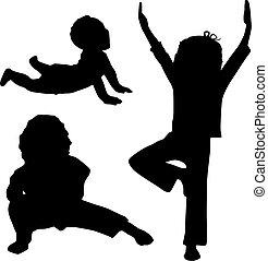 enfant, yoga