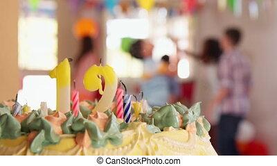 enfants, avoir, anniversaire, amusement, fête, jouer