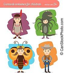 enfants, costumes