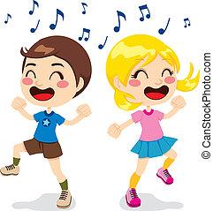 enfants, danse
