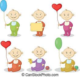 enfants, dessin animé, jouets