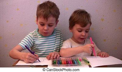 enfants, dessin