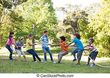 enfants jouer, parc