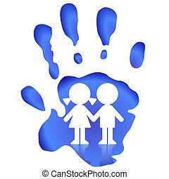 enfants, montre, protéger