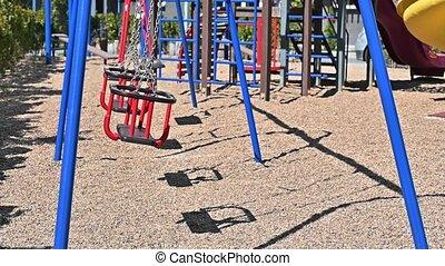 enfants, pendant, menace, secteur, vide, ralenti, covid-19, virus, résidentiel, cour de récréation