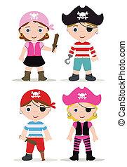 enfants, pirates