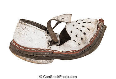 enfants, sandales, vieux