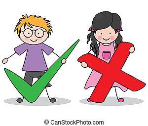 enfants, signes