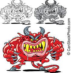 enfer, diable, rouges