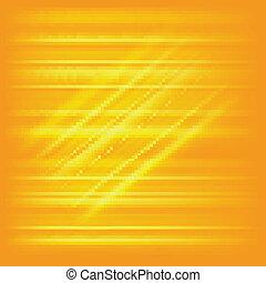 engendré, digitalement, image, jaune