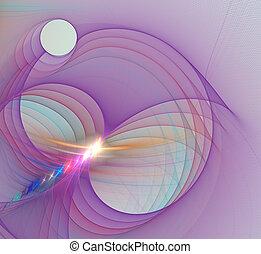 engendré, informatique, fractal, image