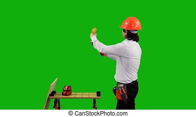 engineer., vert, écran