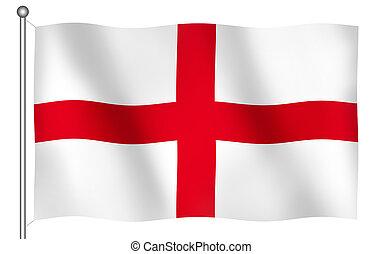 england's, saint, drapeau ondulant, george