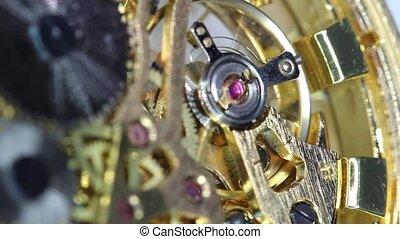 engrenage, horloge, montre, mouvement