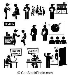 enquête, analyse marché, recherche