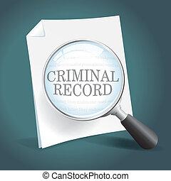 enregistrement, criminel, réexaminer