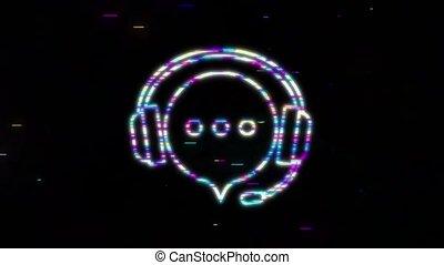 enregistrement, musique, icon., graphics., mouvement, icône, style., musique, plat, voix