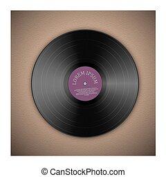 enregistrement, musique, vinyle