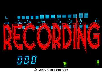 enregistrement, signe