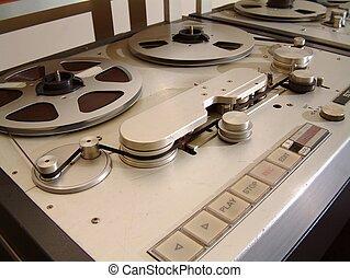 enregistreur, audio, bande