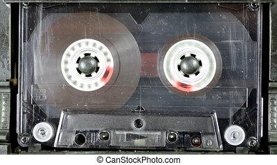 enregistreur, audio, bande, playback
