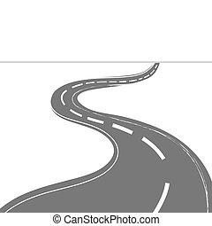 enroulement, conduite, route