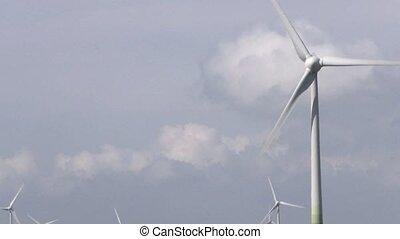 enroulez énergie, propre, générer, turbines