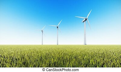 enroulez turbines, champ