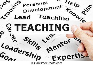 enseignement, concept