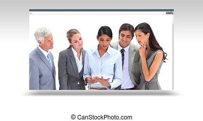 ensemble, équipe, fonctionnement, business
