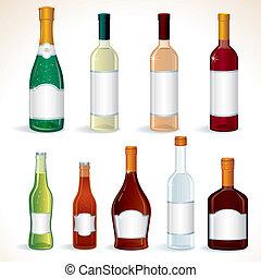 ensemble, alcool