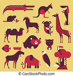 ensemble, animaux