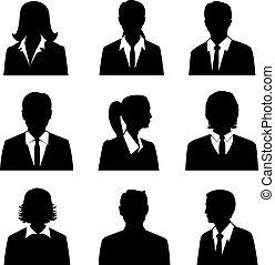 ensemble, avatars, business