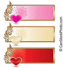 ensemble, bannière, valentin