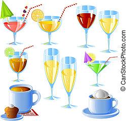 ensemble, boissons