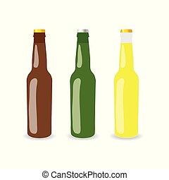 ensemble, bouteille, illustration