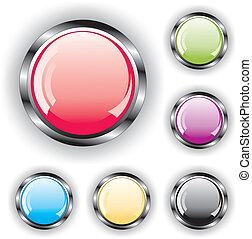 ensemble, boutons, lustré
