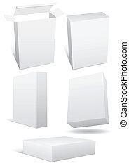 ensemble, boxex., illustration, vente au détail