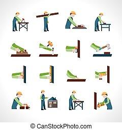 ensemble, charpentier, icônes
