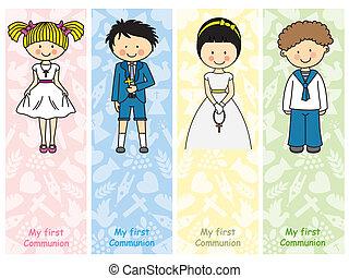 ensemble, communion, premier
