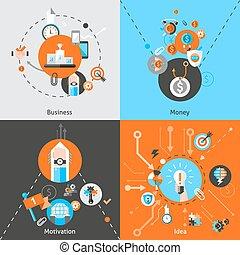 ensemble, concepts affaires