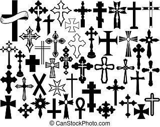 ensemble, croix