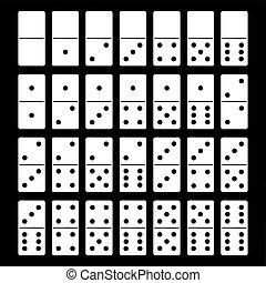 ensemble domino, illustration