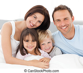 ensemble, famille, agréable, séance